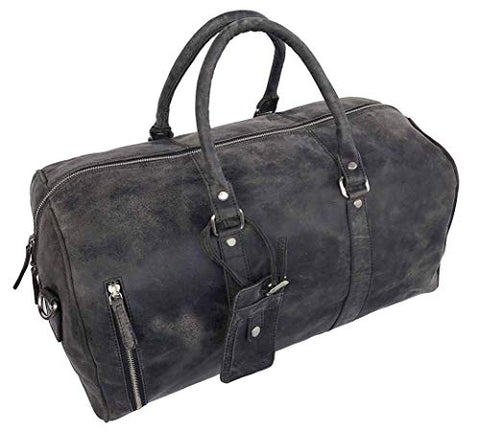 Genuine Leather Duffel Bag | Travel Overnight Weekend Leather Bag | Sports Gym Duffel Bag for Men
