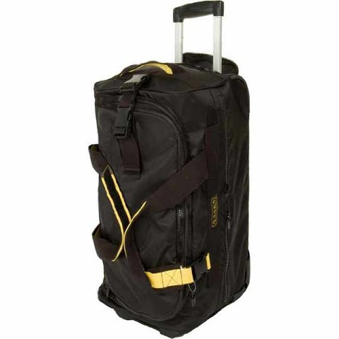 "A. Saks 31"" Expandable Rolling Trolley Duffel (Black)"