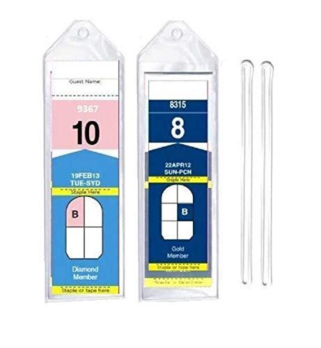 "8 Pack of Cruise Ship Luggage Tags (Narrow) with 6"" Loops for Royal Caribbean and Celebrity Cruise Ships By Easy Read Register"