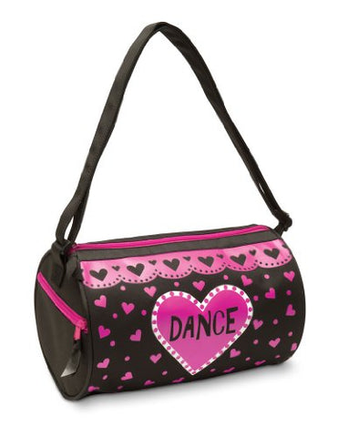 Dansbagz By Danshuz Love Dance Duffel Bag O/S Black