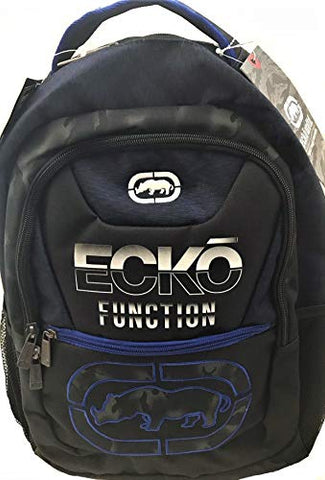 Ecko Unltd Void 18-In Laptop Backpack - Black/Blue