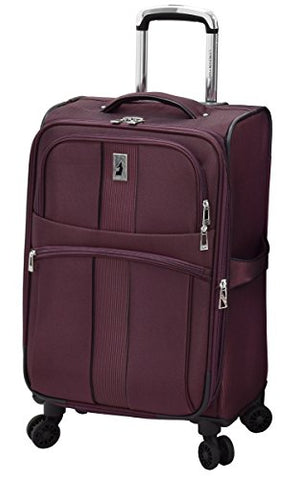 "London Fog Langley 21"" Expandable Spinner Carry-on, Bordeaux"