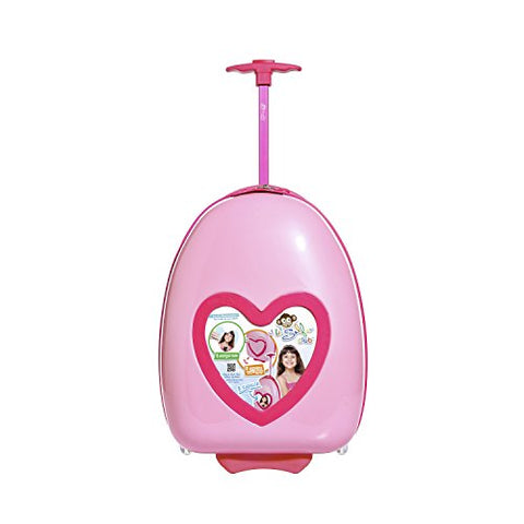 "Travelers Club 16"" Kids' Carry-On Luggage with DIY Replaceable Photo Feature, Pink Heart Color Option"