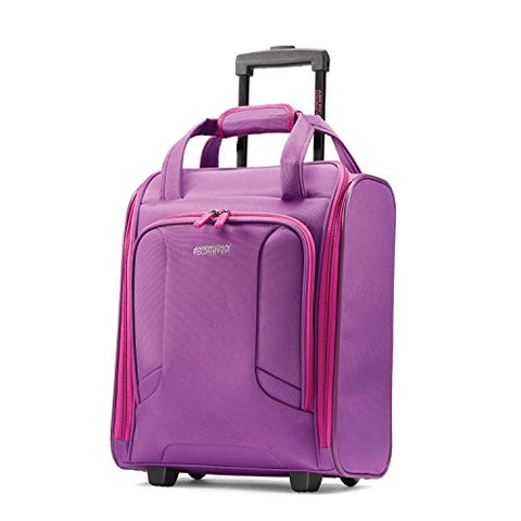 American Tourister 4 Kix Rolling Travel Tote, Purple/Pink