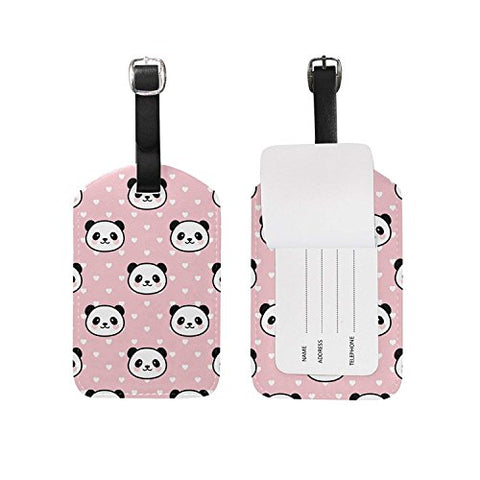 Luggage Tags Cute Pandas Love Heart Luggage Tag Travel Baggage Tags