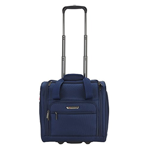 Travelers Polo & Racquet Club Rafael 15 Inch Softside Underseater With Usb Port, Navy