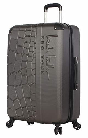 "Nicole Miller New York Wild Side Collection Hardside 28"" Luggage Spinner (28in, Wild Side Charcoal)"