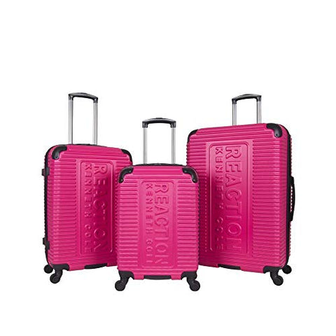 Kenneth Cole Reaction Mechanizer Pink Luggage Set with Carry-On, Checked and Large Case