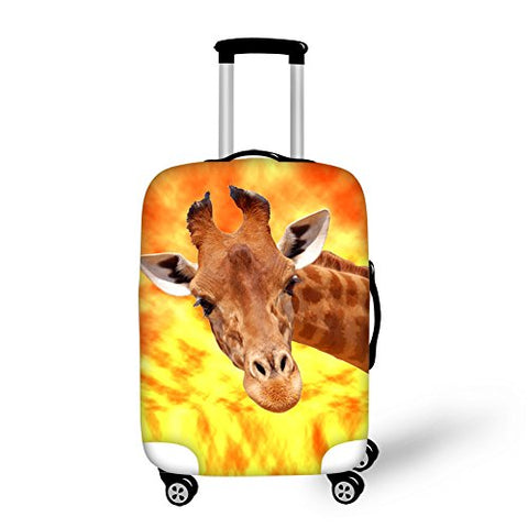 Funny Giraffe Design Luggage Cover Protective Suitcase Dust-Proof L