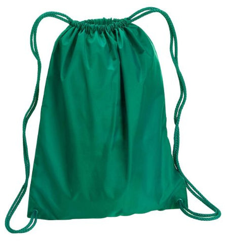 Zuzify Large Cinchsack Drawstring Backpack. Ci0101 Os Kelly Green