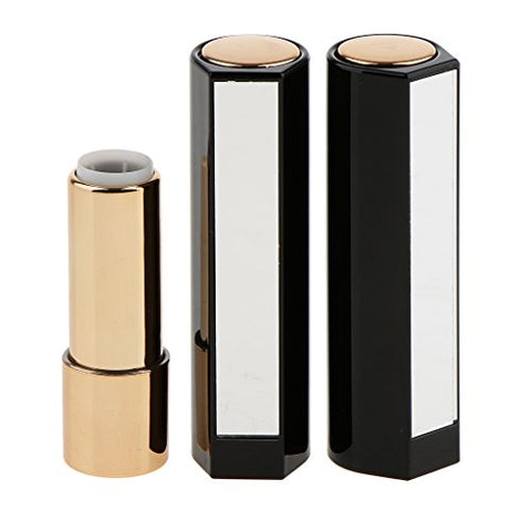 Baoblaze 2 Pieces BPA Free Refillable Black / Red Empty Lipstick Tube Lip Balm Container Holder