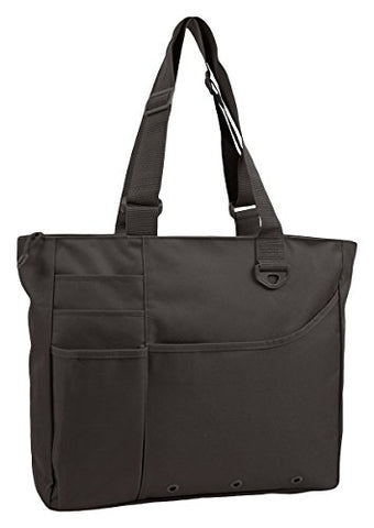 Liberty Bags Recycled Super Feature Tote (Black) (One)