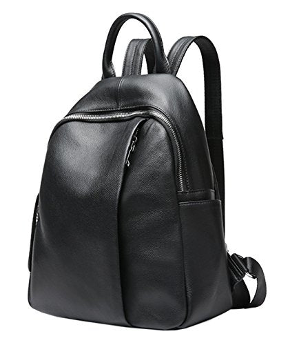 Saierlong Ladies Designer Womens Black First Layer Of Leather Daily Casual Backpack