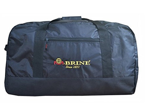 "Mcbrine Luggage 33"" Extra Large Travel Duffel (Black)"