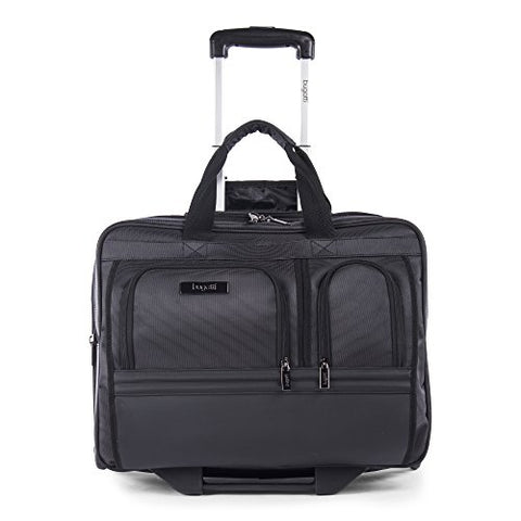 Bugatti Harry Business Case on Wheels, Nylon, Black
