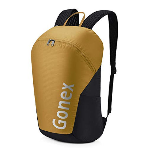 Gonex 32L Packable Travel Daypack, Lightweight Handy Backpack for Outdoor Hiking Cycling Mustard