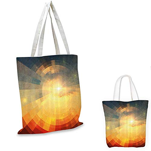 Abstract canvas messenger bag Sunrise Sunbeams with Clear Sky Horizon Vector Image in Pixels Mosaic