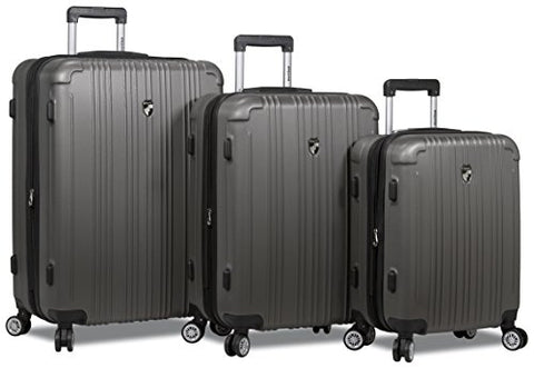 Dejuno ABS Series 3-pcs Expandable Hardside Spinners w/Built In TSA Lock Luggage Set 28, 24 & 20