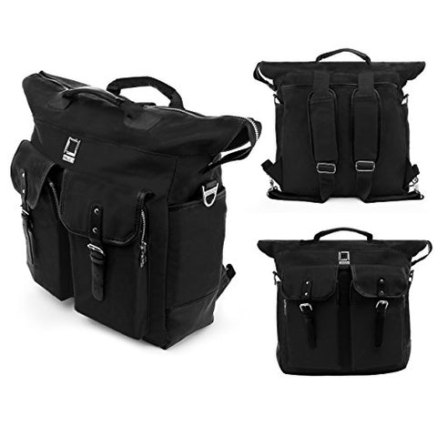 Hybrid Lencca Briefcase Carrying Bag Backpack For Apple Ipad / 9.7 Pro / Macbook / Surface Pro /