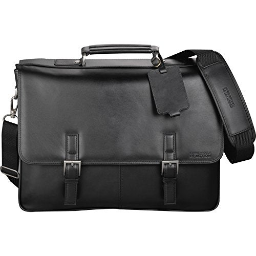 "Kenneth Cole® Manhattan Leather 15.6"" Laptop Computer Messenger- Black"