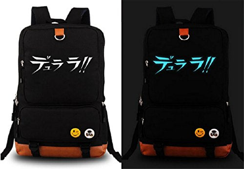 Siawasey Anime Durarara!! Cosplay Luminous Daypack Backpack Shoulder School Bag
