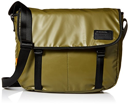 Diesel Men's Discover Messenger Bag, olive drab, One Size