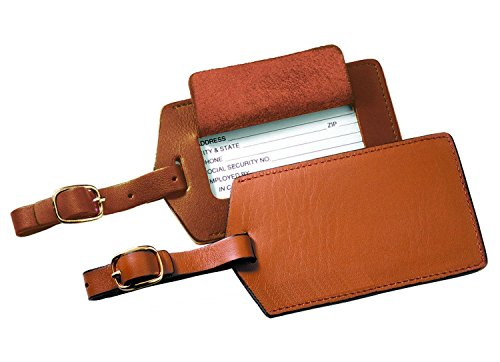 Royce Leather Popular Leather Luggage Tag (Tan)