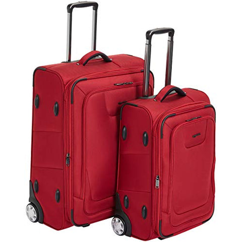 Amazonbasics Premium Upright Expandable Softside Suitcase With Tsa Lock 2-Piece Set - 22/26-Inch,