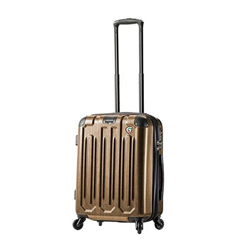 Mia Toro Italy Lustro Hardside Spinner Carry-On, Gold