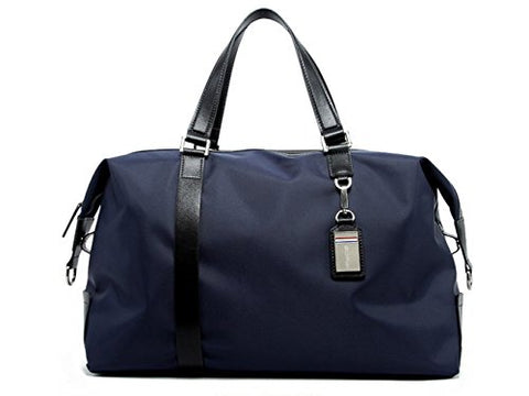 BOPAI-BO | Boston Bag Travel Tote Duffel Bag Carry on Bag Weekender Overnight Bag (Navy)