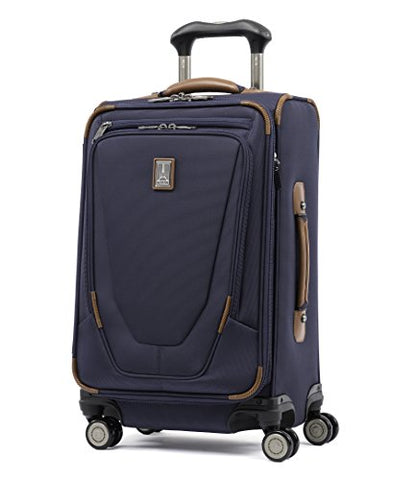 "Travelpro Luggage Crew 11 21"" Carry-on Expandable Spinner w/Suiter and USB Port, Patriot Blue"