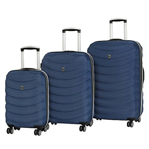 it luggage Waveglider Frameless Expandable 8 Wheel 3 Piece Set, True Navy