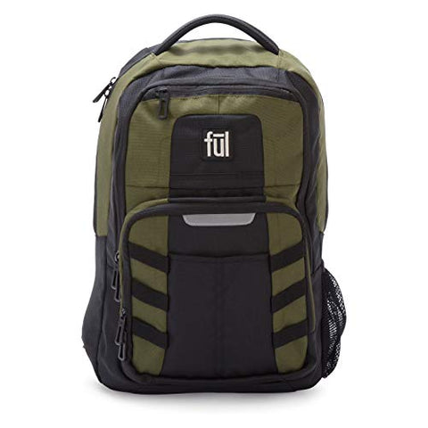 "Ful 18"" Stinger Laptop Backpack-Olive"