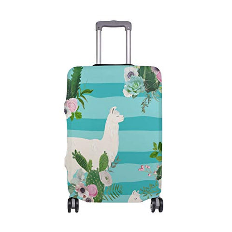 GIOVANIOR Llama Cactus Luggage Cover Suitcase Protector Carry On Covers