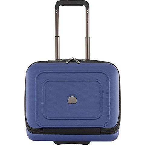Delsey Luggage Cruise Lite Hardside 2 Wheel Underseater With Front Pocket, Blue