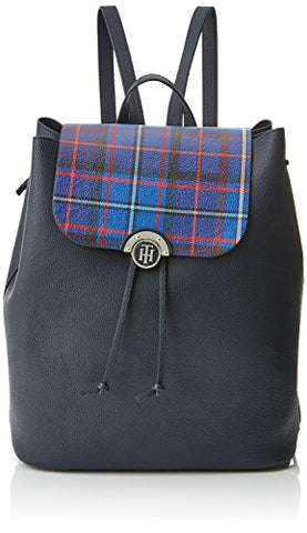 Tommy Hilfiger Womens Effortless Novelty Backpack Print Wallet Multicolour (Tommy Navy/Tartan)