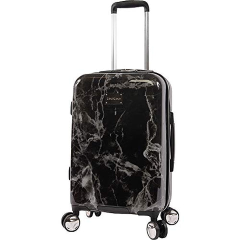 BEBE Luggage Reyna Hardside Carry-on Spinner, Black Marble