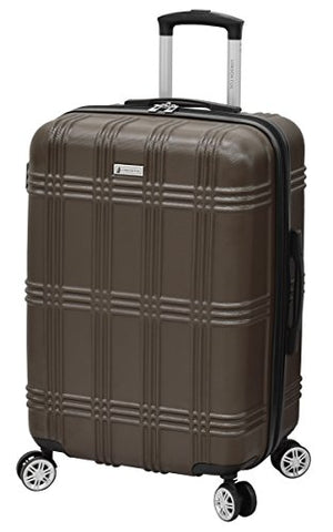 "London Fog Kingsbury 25"" Expandable Hardside Spinner, Coffee"