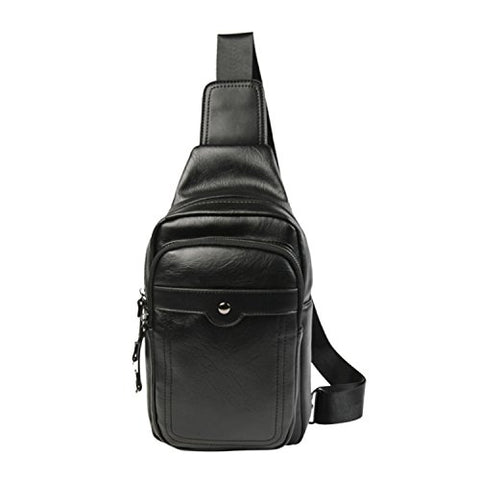 Tidog New Fashion Leather Tide Casual Chest Bag