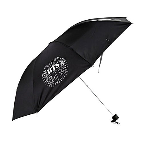 Bosunshine Bts Strong Windproof Compact Travel Folding Umbrella Sunshade , Three Folding, Light