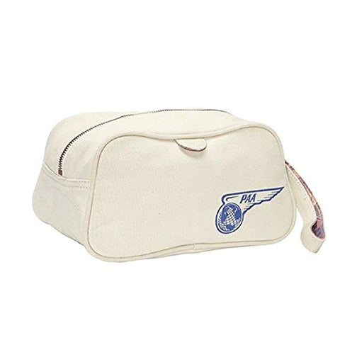 Pan Am 'Paa' Canvas Washbag - Natural Canvas