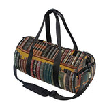 Duffel Bag Books Library Bookshelf Women Garment Gym Tote Bag Best Sports Bag for Boys