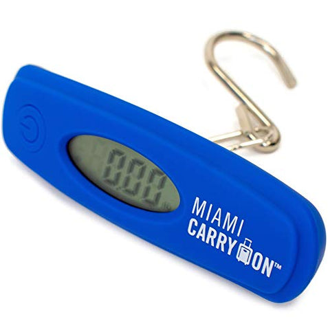 Miami CarryOn Digital Hanging Luggage Scale with Stainless Steel Hook - 110 Lbs / 50KG