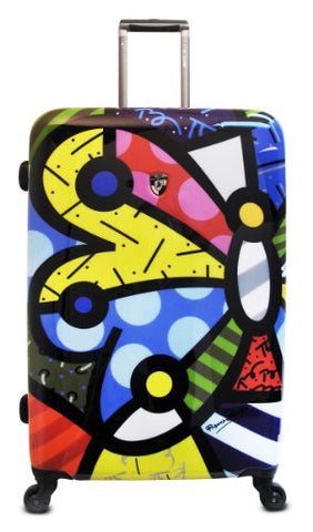 Heys Usa Luggage Britto Butterfly 30 Inch Hardside Spinner, Butterfly, 30 Inch