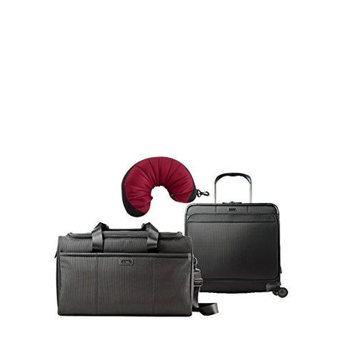 Hartmann Ratio | 3-Piece Set | Travel Duffel & Long Journey Expandable Glider, Travel Pillow