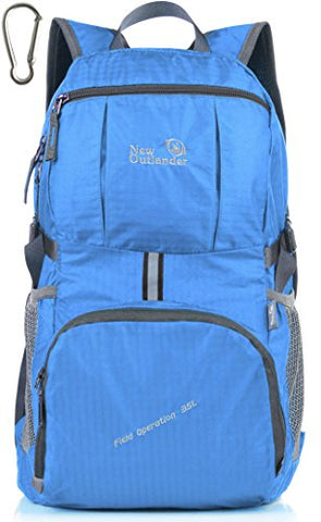 Outlander Packable Lightweight Travel Hiking Backpack Daypack (New Blue)