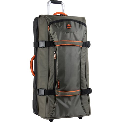 Timberland Luggage Twin Mountain 30 Inch Wheeled Duffle, Burnt Olive/Burnt Orange, One Size