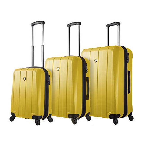 Mia Toro Italy Tosetti Hardside Spinner Luggage 3pc Set,Gold