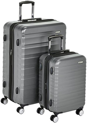 "Amazonbasics Premium Hardside Spinner Luggage With Built-In Tsa Lock - 2-Piece Set (20"", 28""), Grey"