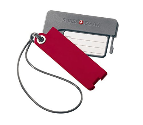 Swiss Gear Luggage Tags Set Of 2, Red, One Size